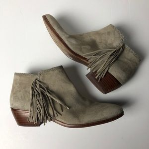 SAM EDELMAN Paige Leather Booties Ankle Boots